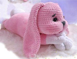 Receita de amigurumi coelho rosa Gratis
