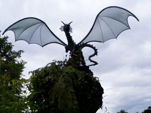 Dragon in a tree