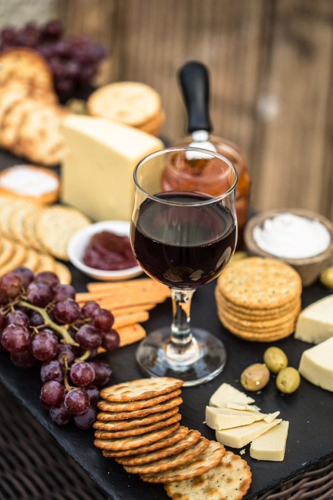 Irish Vegan Cheese Board with Wine