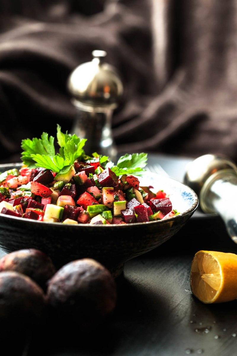 Bowl of Iraqi Beetroot Salad
