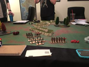 We had 3 players -- 2 dividing the Byzantine army, the other fielding the Orcs