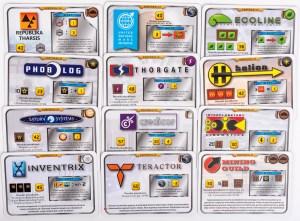 Korporacje z gry Terraformacja Marsa