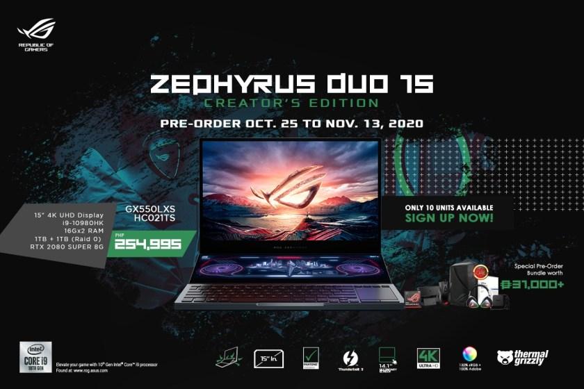 zephyrus duo 15 creator's edition