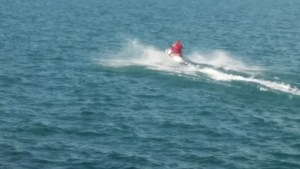 Water Skiing in Lake Michigan. (c)2017, JSB*Art. All Rights Reserved.