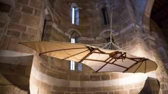 L'ancêtre du deltaplane sortie de l'imagination de Léonard de Vinci