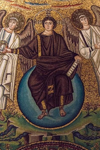 Détail d'une mosaïque de San Vitale