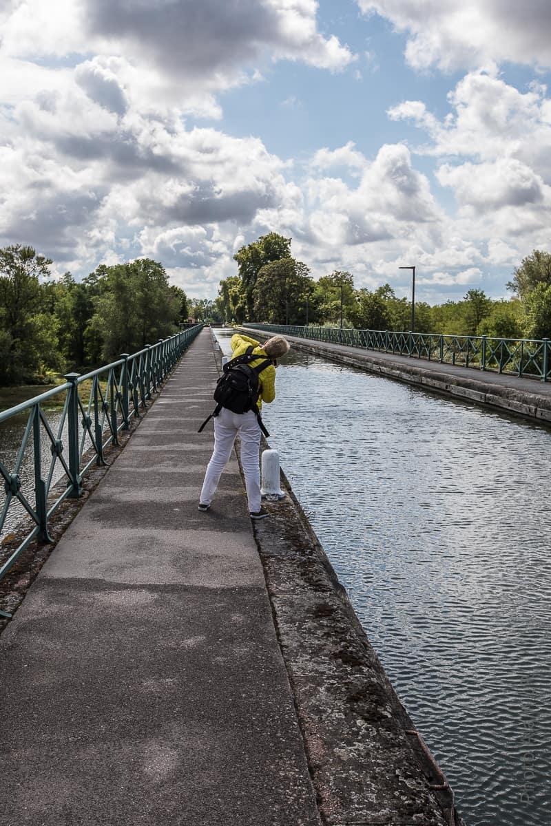 Mo photographie le pont-canal de Digoin