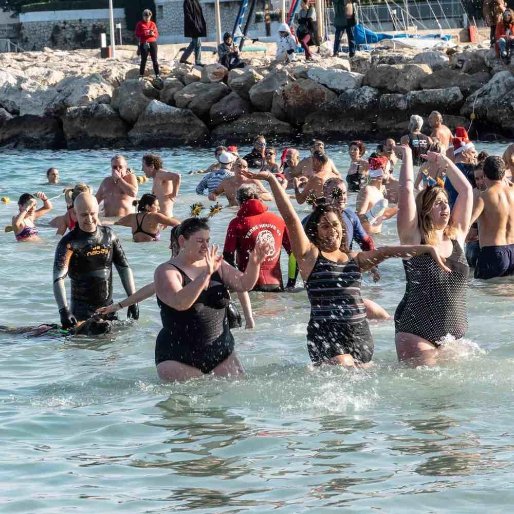 Le bain du jour de l'an 2019 à Antibes - 4