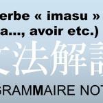 verbe japonais imasu