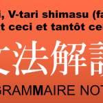 V-tari, V-tari, shimasu