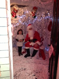 Santa and a guest