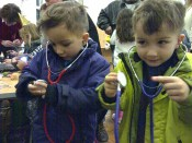 Listening to their own heartbeat - a hospital consultant visited Science Corner