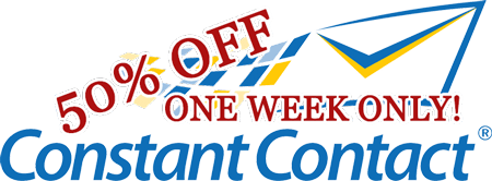 Constant Contact 50% off