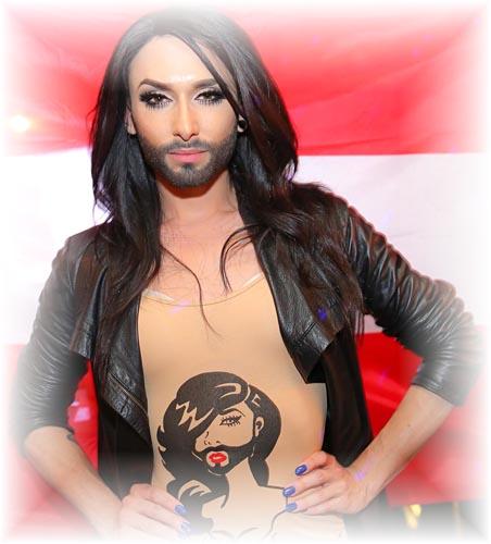 Conchita Wurst, Austria's Eurovision entrant.