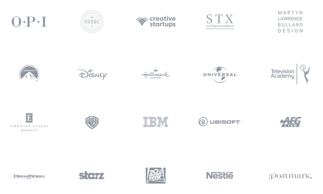 Logos of companies that Dickon has had as clients