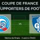 16ème de finale Coupe de France des supporters de football - Strasbourg Grenoble
