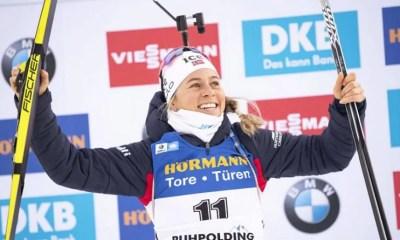 Ruhpolding - Tiril Eckhoff régale encore sur la poursuite, les Françaises hors du coup