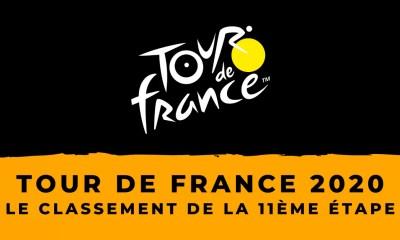 Tour de France 2020 : le classement de la 11ème étape