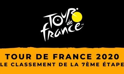 Tour de France 2020 : le classement de la 7ème étape