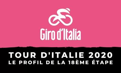 Tour d'Italie 2020 - Le profil de la 18ème étape