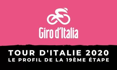Tour d'Italie 2020 : le profil de la 19ème étape