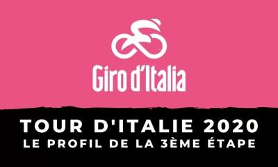 Tour d'Italie 2020 : le profil de la 3ème étape