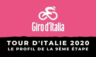 Tour d'Italie 2020 - Le profil de la 9ème étape