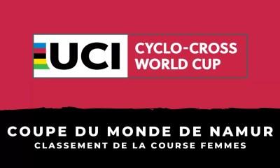 Cyclo-cross - Coupe du monde de Namur - Le classement de la course femmes
