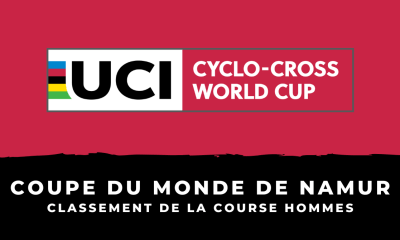 Cyclo-cross - Coupe du monde de Namur - Le classement de la course hommes