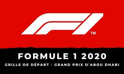 F1 - Grand Prix d'Abou Dhabi : la grille de départ