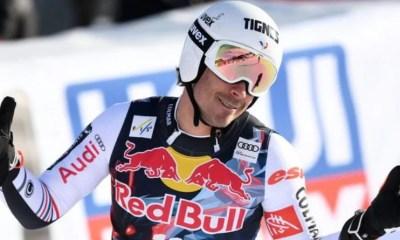 Johan Clarey deuxième de la descente de Kitzbühel derrière Beat Feuz
