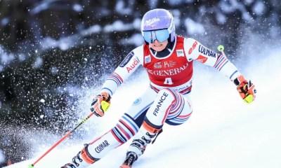 Slalom géant de Kranjska Gora - Tessa Worley deuxième derrière l'Italienne Marta Bassino