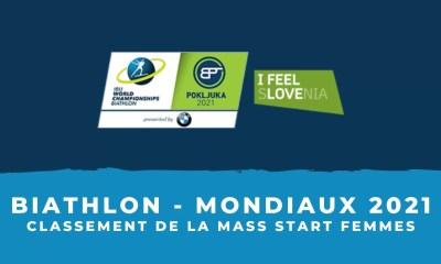 Biathlon - Championnats du monde 2021 - Le classement de la mass start femmes