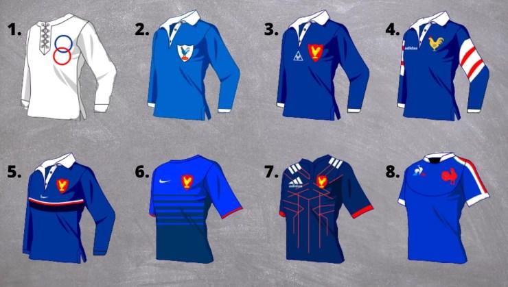 Élisez le plus beau maillot de l'histoire du XV de France