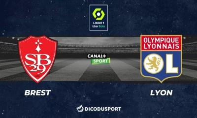 Football - Ligue 1 notre pronostic pour Brest - Lyon