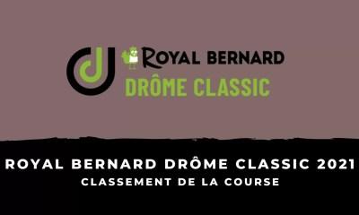 Royal Bernard Drôme Classic 2021 - Le classement de la course