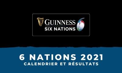 Tournoi des 6 Nations 2021 - Calendrier et résultats