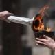 12 mars 2020 - La flamme olympique allumée sans public