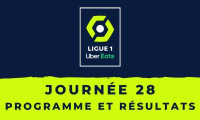 Calendrier Ligue 1 2020-2021 - 28ème journée : Programme et résultats