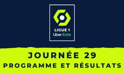 Calendrier Ligue 1 2020-2021 - 29ème journée Programme et résultats