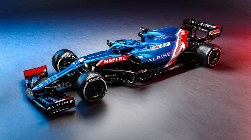 F1 2021 - Les première images de l'Alpine A521 d'Ocon et Alonso