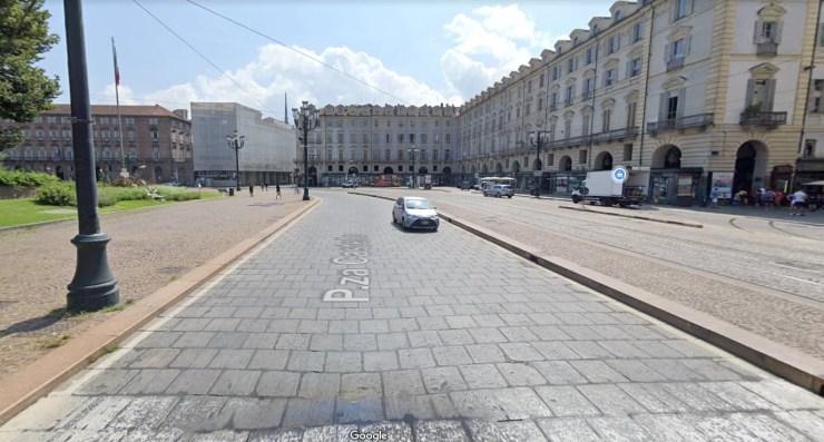 Piazza Castello Turin Départ Tour d'Italie