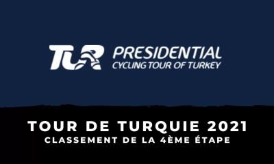 Tour de Turquie 2021 - Le classement de la 4ème étape