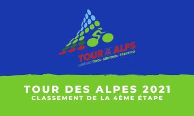 Tour des Alpes 2021 - Le classement de la 4ème étape