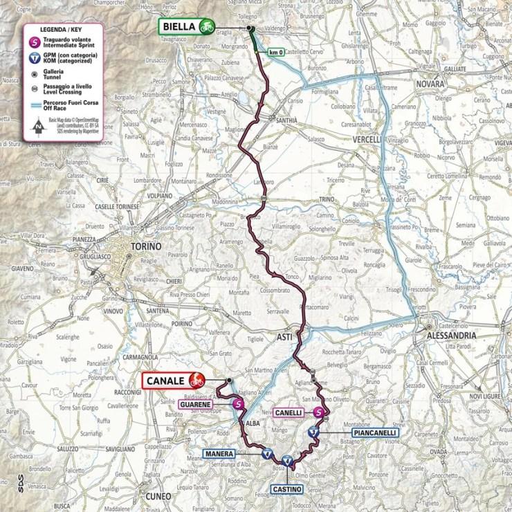 Carte du parcours de la 3ème étape du Tour d'Italie 2021