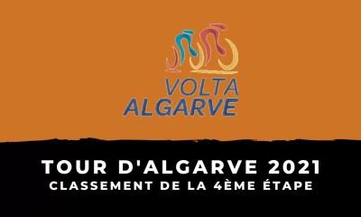 Tour d'Algarve 2021 - Le classement de la 4ème étape