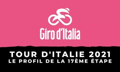 Tour d'Italie 2021 - Le profil de la 17ème étape