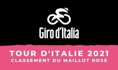 Tour d'Italie 2021 - le classement général - Maillot rose
