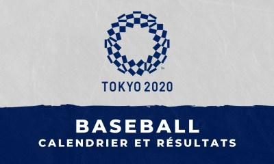 Baseball - Jeux Olympiques de Tokyo calendrier et résultats