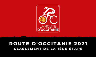 Route d'Occitanie 2021 - Classement de la 1ère étape